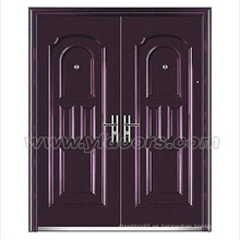 Puerta cuadro marco puerta de acero exterior comercial doble puerta