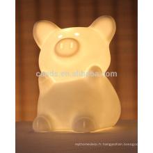 Le meilleur a accueilli la lampe de bureau en céramique décorée de bureau mini