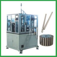Automatic armature shaft placing machine inserting machine