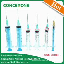 Single Use 3 Parts Self Destroy Syringes, Disposable Syringes