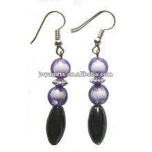 Magnetische Hämatit Risse Perlen Ohrringe