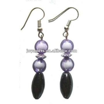 Magnetic Hematite Crack Beads Earrings