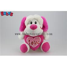 """10 """"al por mayor juguete relleno de animales de perro relleno con almohada de corazón rosa Bos1165"""