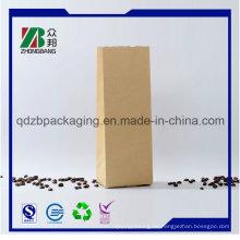 Sample Printing Logo Bottom Square Kaffee Verpackung Tasche
