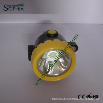 Lámpara de cabezal de minería de LED resistente al agua recargable IP68