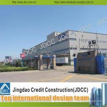 Edificio de taller de estructura de acero ligero galvanizado