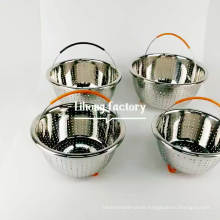 10inch stainless steel basket fruit colander with handle