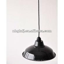 Email Lampenschirm mit Rohr und E27 Halter