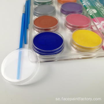 Vattenbaserad Nontoxic Party Face Paint Palette