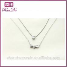 Novo modelo de diamante bela jóia conjuntos