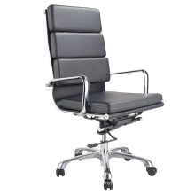 Dr. Office High Back Office Chair Heavy Duty Base Drafting Chair Ribbed Leather Desk Chair with Armrest Swivel Furniture Conference Chairs for Recept