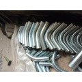 Courbe d'aspirateur industriel à haute pression à galvanisation à chaud
