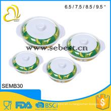 Меламина сервировочная миска с крышкой