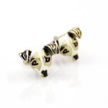 VAGULA Gemelos chien tête en métal boutons de manchettes (HLK35140)