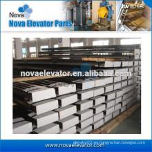 Componente de seguridad para ascensores Guía de acero