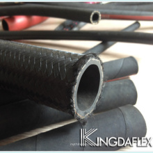 wire braided and fiber reinforced cover hydraulic hose