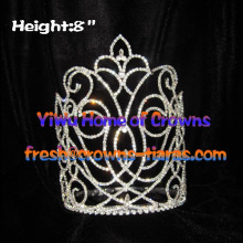 8inch All Clear Crystal Fleur De lis Crowns