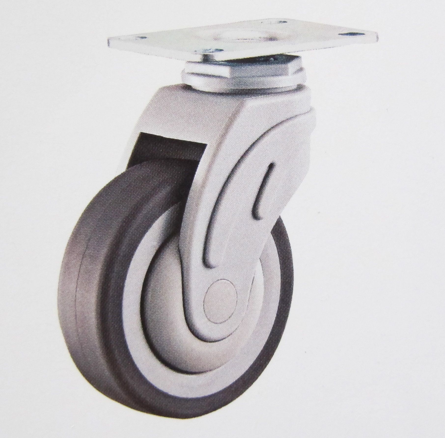 Plastic medical caster wheel swivel plate(flat rim)