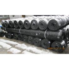Plástico de alta elasticidade PP Biaxial Geogrid para a estrada