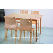 Modern Wooden Restuarnt Tables and Chairs Design (FOH-NCP17)