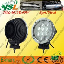 12 PCS * 5W LED luz de trabalho, 5100lm LED luz de trabalho, 60W LED luz de trabalho para caminhões