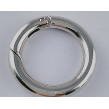 Spring Leaver Ring Clasp Jewelry and Components Round Doughnut Shaped