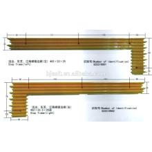 Escada rolante Amarelo Frame de passo em plástico para peças de elevador / margem de segurança amarela Specials Demarcation