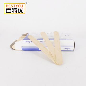 Abaisse-langue médical à spatule en bois jetable