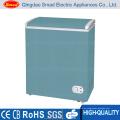 Congelador de exhibición único de la caja del pecho profundo de la puerta sólida 300L con el bloqueo y la llave