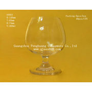 Brandy Wine Glass Goblet With Sandblasting , Hot Stamping And Bronzing