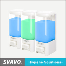 Wall Mount Soap Dispenser with Three Transparent Tank (V-8103)