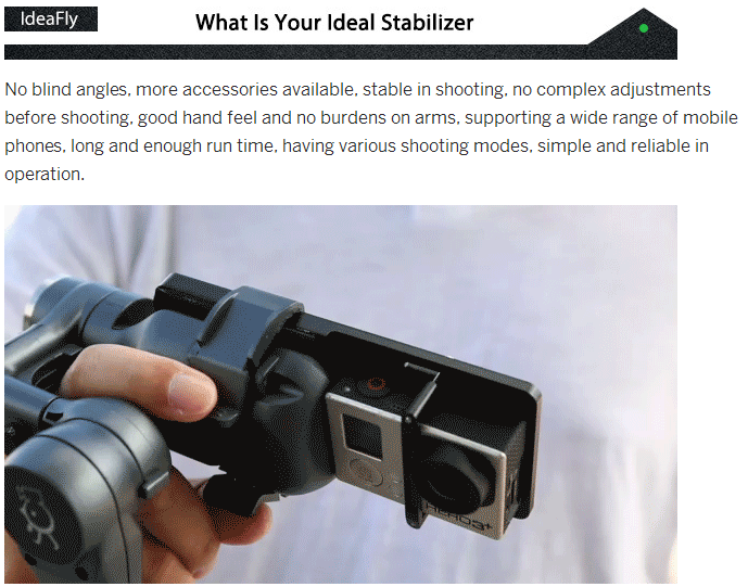 Stabilizer With GoPro Adapter