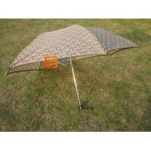 20.5*6k Fashionable Lepard Mini Fold Umbrella (YSM0014)