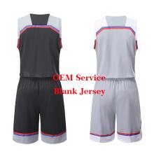 El más nuevo uniforme de baloncesto del equipo del baloncesto Jersey en blanco en la acción de la sublimación del baloncesto de encargo seco adaptable del ajuste