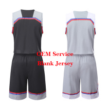 Le plus récent Basketball Uniform Kit Basketball Jersey Blank En Stock Sublimation Respirant Dry Fit Maillot de Basketball Personnalisé