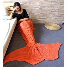 60x160CM Adult mermaid tail blanket knit crotchet