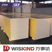 PU / Sándwich de poliuretano, techo o panel de pared para la construcción de estructuras de acero