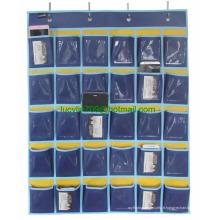 Tableau de poche de la salle de classe pour cartes de téléphone mobiles (30 pochettes et pochettes transparentes)