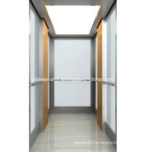 Удобный пассажирский лифт с ламинированным стеклом
