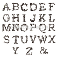 Palavras de design claros selos para fazer álbum de recortes de papel