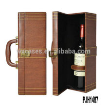 Portador de vino de cuero llegada nuevo para botella fabricante
