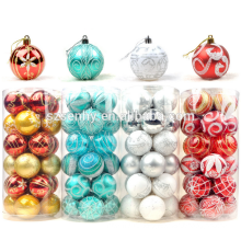 Luxury inner plastic painting christmas ball