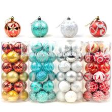 Bola de Natal interior de luxo de pintura plástica