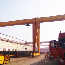 Double Girder Semi Gantry Crane for Workshop