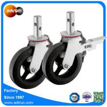 Industrielles Stahlkern-Gummirollenrad für Baugerüst
