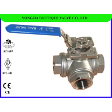 Forged Stainless Steel 3 Way Ball Valve