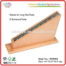 Montessori Preescolar Juguetes de madera Juguetes Rack para Red Rods