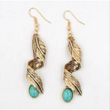 New Retro Earring Turquoise Leaves Vintage Earrings