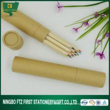 7 pulgadas de lápiz de madera de color afilado conjunto