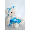 new type cute lying plush teddy bear toys with tie